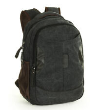 Fashion men's canvas backpack student laptop bookbag shoulder bag travelling bag