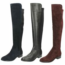 Ladies Clarks Knee Length Boots 'Caddy Belle'
