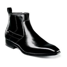 Stacy Adams Montrose Plain Toe Boot Mens  Black Leather Side Zipper 25074-001