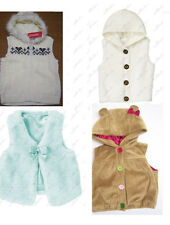 NWT Gymboree Girls Vest Hoodie FAUX FUR Sweater Cable Cardigan 2T-3T 4T-5T 12-24