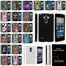 For LG G4 Stylus LS770 Slim Fitted Hard Snap On Case Unique Designs + Stylus Pen