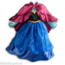 NWT DISNEY STORE FROZEN PRINCESS ANNA COSTUME DRESS FOLK STYLE Double Cape 5/6