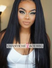 Indian Remy Full Lace Wigs Silky Straight Human Hair Lace Front Wigs For Women