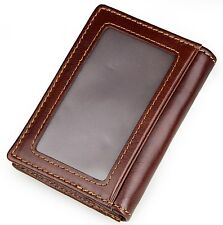 Genuine Leather Card Holder Purse Clutch Business Wallet Money Simple ID Credit