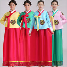 Hot Luxury Korean Traditional Clothes Dress HANBOK WOMAN with silver hanbok