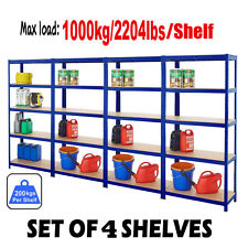 Warehouse Racking Garage Shelving 5 Tier Heavy Duty Boltless Storage Unit 1.8M