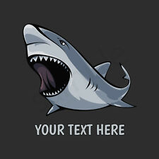 Angry Shark T-Shirt, Men Women Youth Long Sleeve Personalized Tee great white