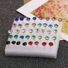 Rhinestone Clear/Multicolor Girls Round Hot Jewelry Crystal Ear Studs Earrings