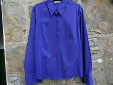 Ladies long sleeved Blouse - Marks & Spencer ~ Purple ~ top stitching  detail