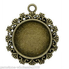 Wholesale W09 Lots Bronze Tone Frame Cameo Settings 34x30mm
