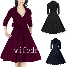 Free Shipping Sexy V Neck Women 3/4 Sleeve Long Dresses Hofn Style Formal Gowns