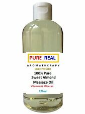 SWEET ALMOND OIL/ MASSAGE OIL 100% Natural Organic AROMATHERAPY Grade+A 25-500ml