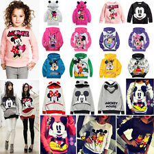 Womens Mickey Mouse Hooded Tops Sweatshirts Kids Hoodies Pullover Sweater Coat