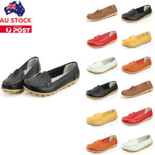 Woman Synthetic Leather Casual Peas Shoes Slip On Driving Flat Loafer Moccasins