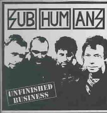BRAND NEW AND SEALED Subhumans - Unfinished Business CD