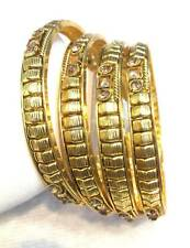 New Indian Designer 14k Gold Plated Bangles 4PC Kada Set Bollywood Jewelry