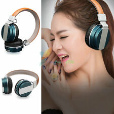 Blue -YP71 FM Wireless Bluetooth Headphone Headset Earphone For Call Phone Apple