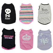 Dog Vest Summer Pet T Shirt Puppy Cat Clothes Costume Apparel XS Small Medium