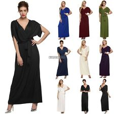 Sexy Women Lady Batwing Sleeve Deep V Neck Long Dress Party Evening casual hfor