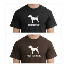 German Jagdterrier Silhouette T-Shirt Men Women Youth Long Personalized Tee dog