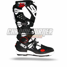 SIDI Crossfire 2 SRS 2016 Black White, Motocross Boots, NEW