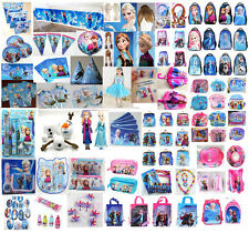 U PICK Disney FROZEN Birthday Party Supplies+School Bag+Stationery Set+Wig+Purse
