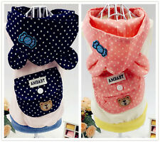 Small Medium Large Dog Clothes Puppy Pet Vest Coat Hoodie F chihuahua Schnauzer