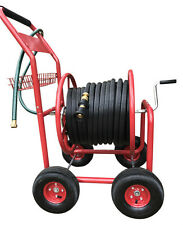 Garden Hose Cart Trolley Steel Reel Powder Coated Steel hold 100MX19MM Fire Hose