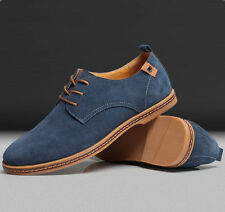 New Mens Casual/Dress Formal Oxfords Flats Shoes Genuine Suede Leather Lace Up