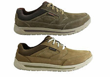 NEW ROCKPORT MENS RANDLE MUDGUARD LEATHER WIDE FIT SHOES
