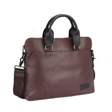 2017 Men Laptop Pu Leather Messenger Handbag Shouder Briefcase Travel Brown Bag