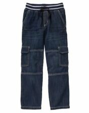 NWT Gymboree Boys Pull on Cargo JEAN Ribbed Waist 4 5 6 7 8 12 Everday All Star