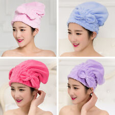 Coral  Velvet Multi-color Drying Wrap Quick Dry Cap Bow Hair Towels