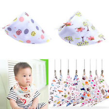 8 Colors Cartoon Kid Toddler Bandana Baby Bibs Saliva Towel Boy Girl