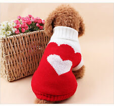 Dog Sweater Pet Puppy Cat Sweater Winter Spring Autumn Clothes XXS/XS/S/M/L/XL
