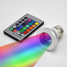 5W E27/GU10/E14/E27 16 Color LED RGB Magic Light Bulb+IR Remote Control Party