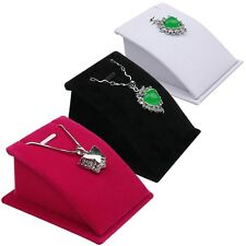 Hot Velvet Jewelry Necklace Pendant Drop Chain Display Holder Standing Stands FY