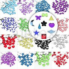 1000pcs Acrylic Flatback Rhinestones Nail Art Phone Star Heart Flower Teardrop
