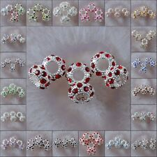 h2023-2047 10x5 Wholesale Multi-color Crystal Spacer Bead Findings