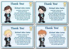 Personalised Boys First Holy Communion Thank You Cards x10 with envelopes