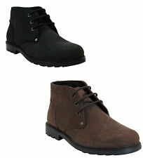 NEW MENS LEATHER SMART CASUAL GENTS LACE UP CHELSEA ANKLE DESERT BOOTS SHOES UK