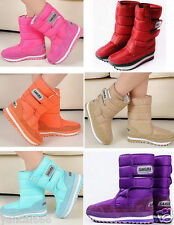 10 Colors Fashion Women's Girls Winter Warm Lining Snow Joggers Boots #
