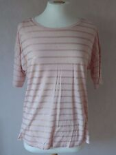NEW - M&S - size 10 - 22 - lovely two tone PINK striped TOP / tunic - BNWoT