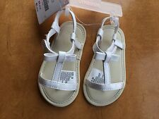 NWT Gymboree Egg Hunt White Crib Sandals Shoes Baby Girl Infant 1,2,4