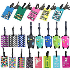 SUITCASE PATTERN LUGGAGE TAGS NAME ID ADDRESS HOLDER IDENTIFIER LABEL WARM