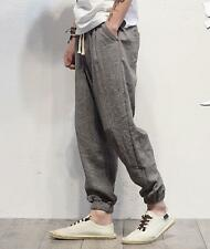 Casual Mens Cotton Haroun Pants Bloomers Linen Trousers Loose Long Summer New YT
