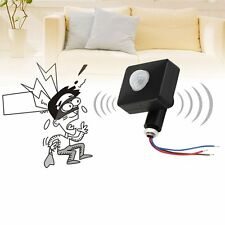 Black 12M PIR12V/PIR85-265V Security PIR Infrared Motion Sensor Detector XC