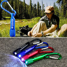 Mini LED Portable Light Flashlight camping Keychain Torch Handy Lamp Carabiner