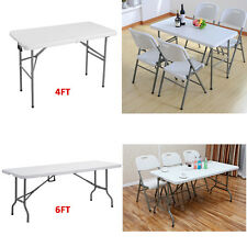 FOLDING TRESTLE TABLE PICNIC/CAMPING/BBQ BANQUET/PARTY/MARKET/GARDEN HEAVY DUTY