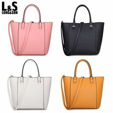 New L&S Women Handbags Tote Crossbody Bag Ladies Leather Top Handle with Strap